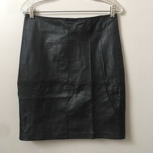 Newport News Genuine Leather Mini Skirt
